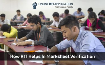 File RTI Online For Marksheet Verification
