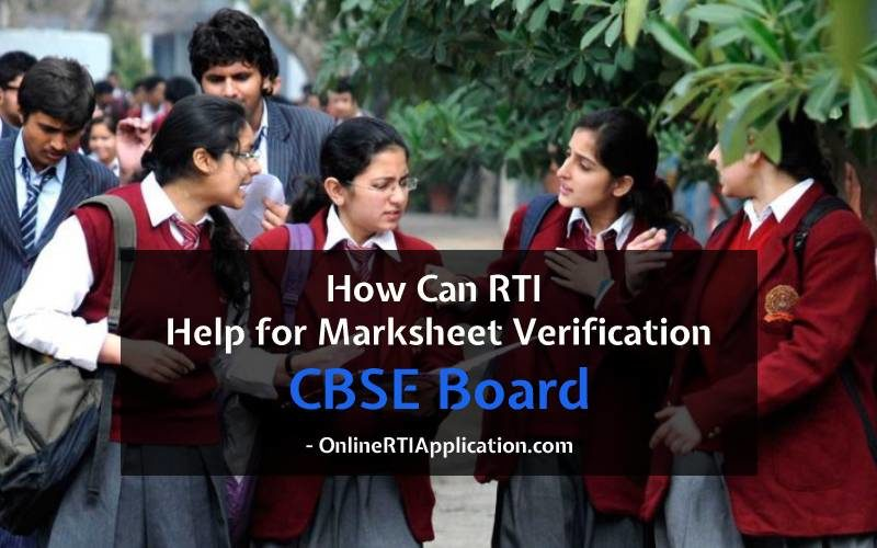 File RTI Online to get Marksheets from CBSE Boards