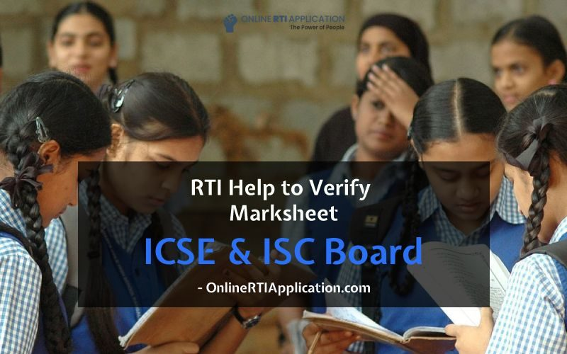 How to File RTI for Marksheets Verification from ICSE & ISC Board