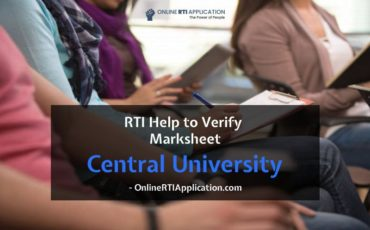 How to Verify Marksheets from Central University through RTI