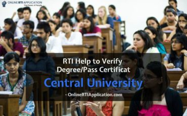 RTI Help to Verify Degree or Pass Certificate from Central University