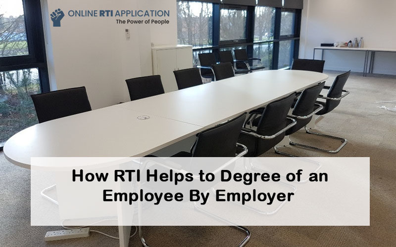 Employer file RTI for degree verification