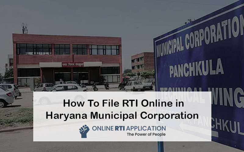 How To File RTI Online in Haryana Municipal Corporation