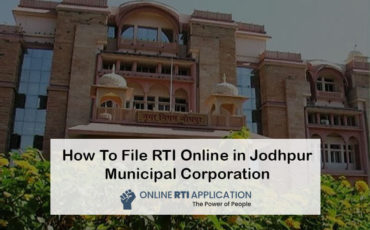 How To File RTI Online in Jodhpur Municipal Corporation