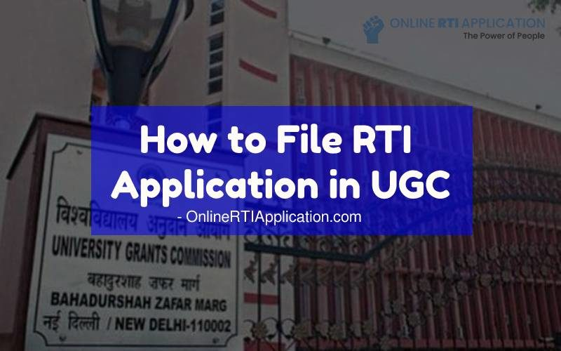 How to File RTI Application in UGC