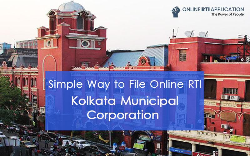 How to File RTI Online to KOLKATA Municipal Corporation