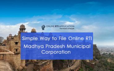 How to File RTI Online to MADHYA PRADESH Municipal Corporation