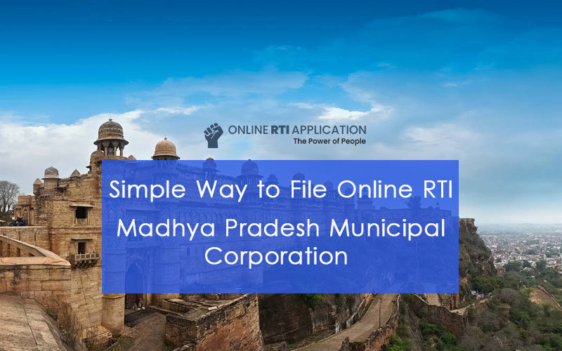 How to File RTI Online to MADHYA PRADESH Municipal Corporation