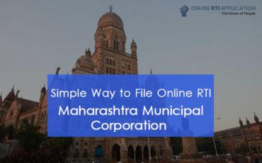 How to File RTI Online to Maharashtra Municipal Corporation