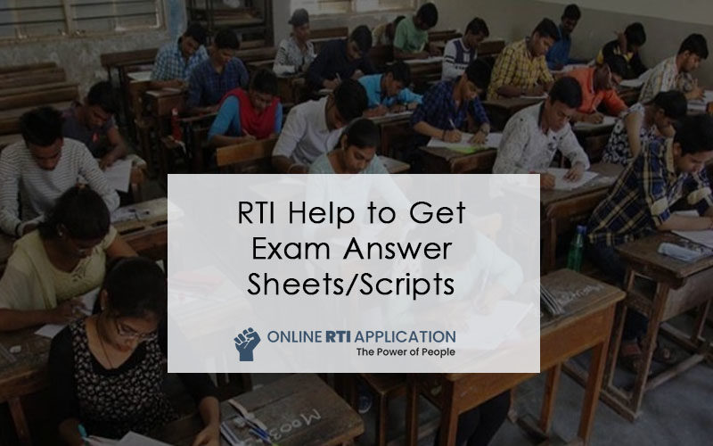 RTI Online to Get Exam Answer Sheets-Scripts