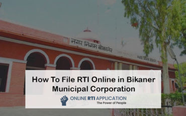 RTI to Bikaner Municipal Corporation