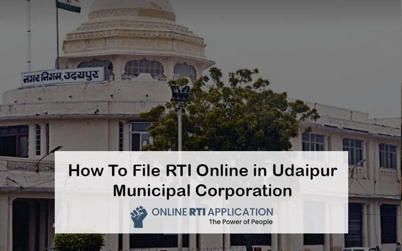 RTI to Udaipur Municipal Corporation