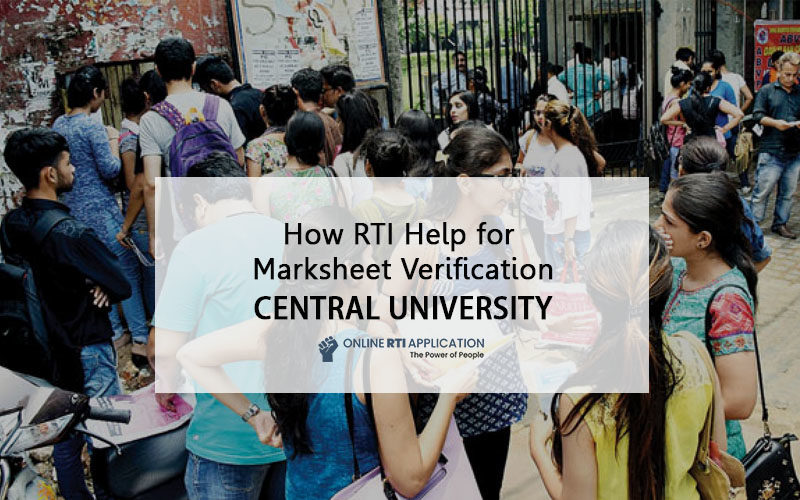 file RTI online to Central University