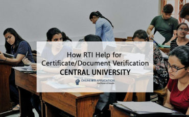 rti to get Documents and Certificates from Central University